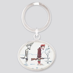 2-Passing the Buck Oval Keychain