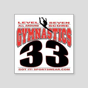 """LEVEL7SCORE33 Square Sticker 3"""" x 3"""""""