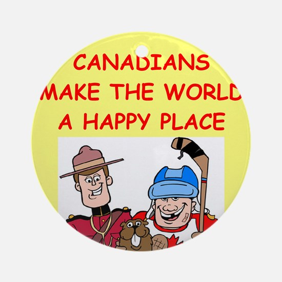 CANADIAN.png Ornament (Round)