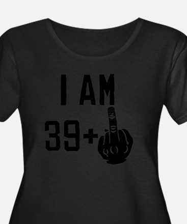 Middle Finger 40th Birthday Plus Size T-Shirt