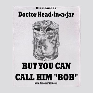 doctor-head-in-a-cup-doctor-head-in- Throw Blanket