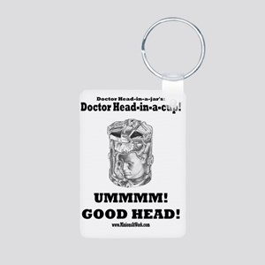doctor-head-in-a-cup-docto Aluminum Photo Keychain