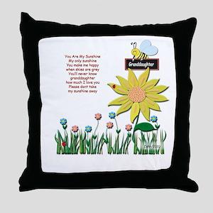 Granddaughter Keepsake Box Throw Pillow