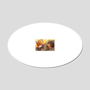 Cub spread 1 20x12 Oval Wall Decal