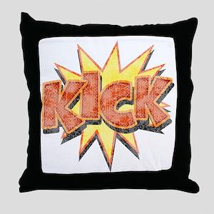 kick-bang-T Throw Pillow
