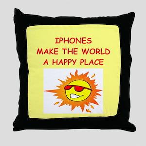 IPHONES Throw Pillow