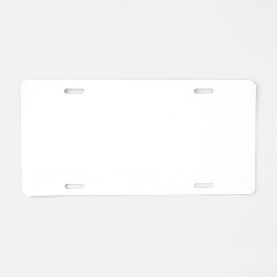 2-VSS digby t white art Aluminum License Plate