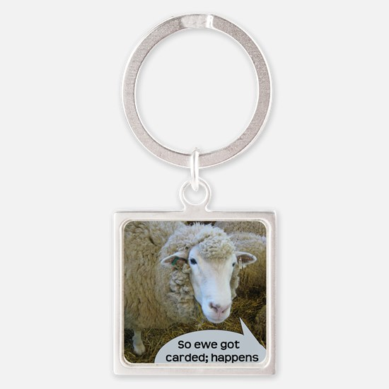 carded051210 Square Keychain