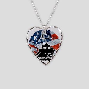 MemorialDayRem A Necklace Heart Charm