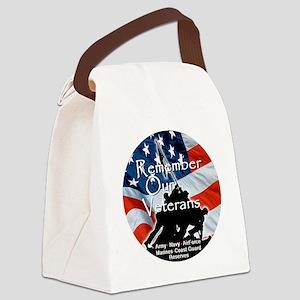 MemorialDayRem A Canvas Lunch Bag