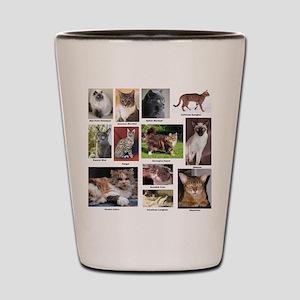 Cat Breed Full Color Shot Glass