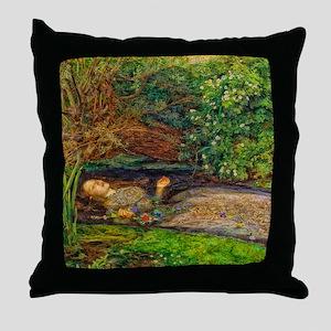 Millais: Drowning Ophelia Throw Pillow