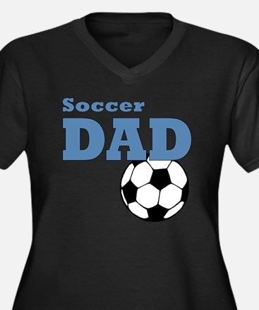 Soccer Dad Women's Plus Size Dark V-Neck T-Shirt