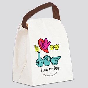 I_Love_DogFSbbt Canvas Lunch Bag
