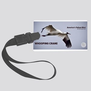 Whooping Crane Luggage Tag