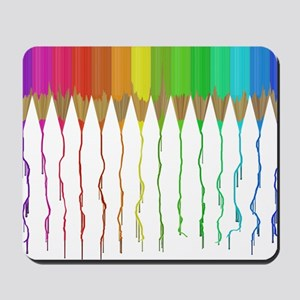 Melting Rainbow Pencils Mousepad