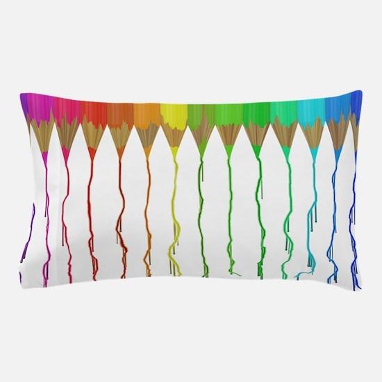 Melting Rainbow Pencils Pillow Case