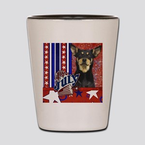 July_4_Firecracker_Australian_Kelpie_Ju Shot Glass