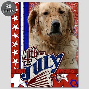 July_4_Firecracker_Golden_Retriever_Mickey Puzzle