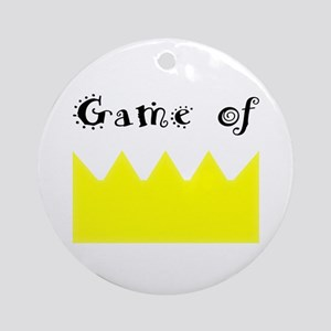 Game of crown, Queen, king Round Ornament