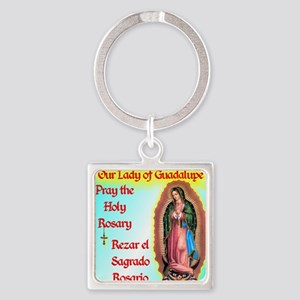 pray_mouse_blue_olg Square Keychain