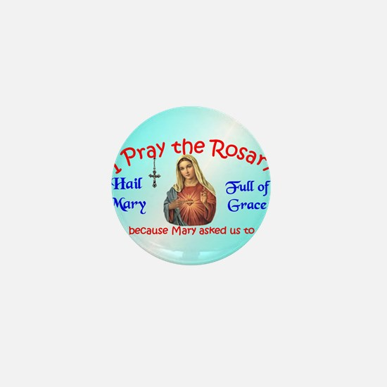 pray_ornament_round_blue Mini Button