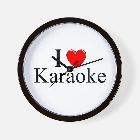 """I Love (Heart) Karaoke"" Wall Clock"