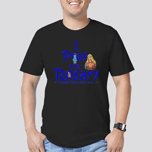 2-pray_10x10_blue Men's Fitted T-Shirt (dark)