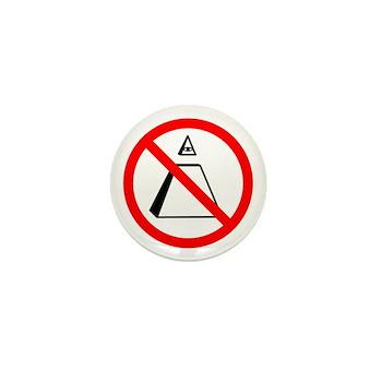 """2012 """"No NWO"""" Mini Button"""