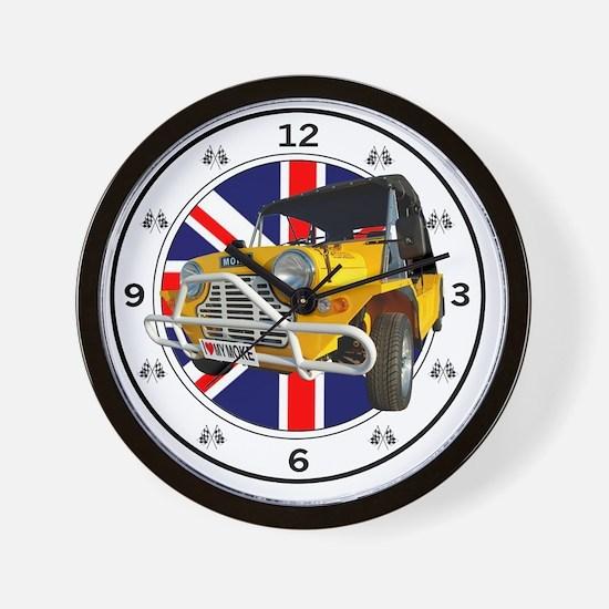 yellow moke clock Wall Clock