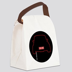 mini Round Canvas Lunch Bag