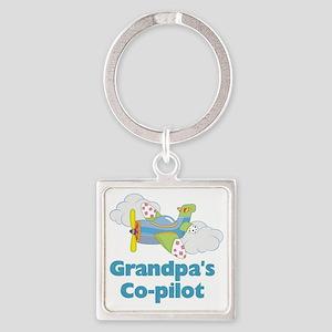 grandpas copilot Square Keychain