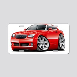 Crossfire Red Car Aluminum License Plate