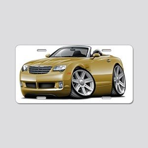 Crossfire Gold Convertible Aluminum License Plate