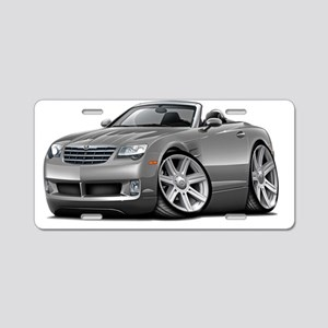 Crossfire Grey Convertible Aluminum License Plate