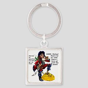 Obama_Pirate_Shirt Square Keychain