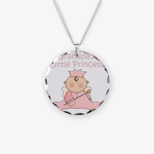 grandpas little princess Necklace Circle Charm