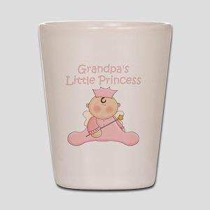 grandpas little princess Shot Glass