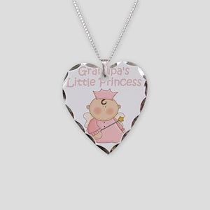 grandpas little princess Necklace Heart Charm