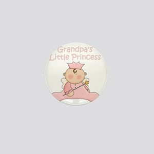 grandpas little princess Mini Button