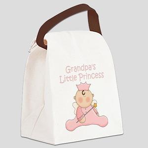 grandpas little princess Canvas Lunch Bag
