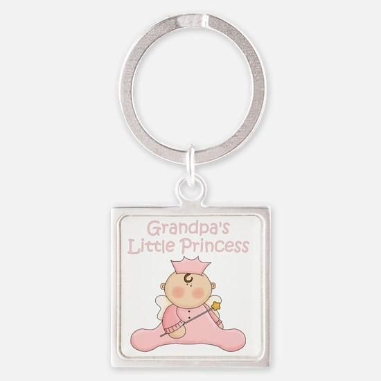 grandpas little princess Square Keychain