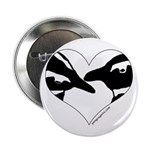 Penguin kiss (heart design) Button