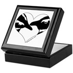Penguin kiss (heart design) Keepsake Box