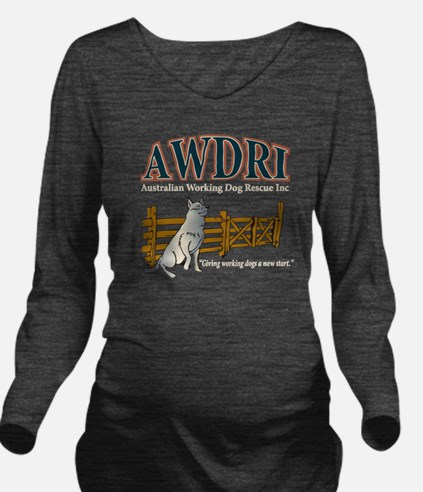 AWDRI Logo1 Long Sleeve Maternity T-Shirt