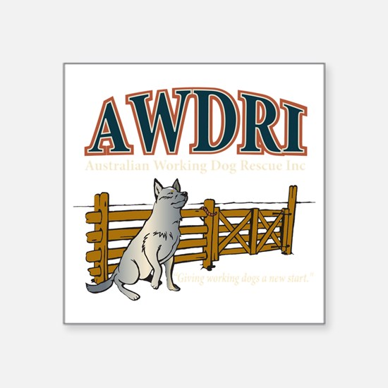 "AWDRI Logo1 Square Sticker 3"" x 3"""