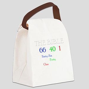One message dark Canvas Lunch Bag