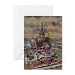 St. Basil's, Moscow Greeting Cards (Pk of 10)