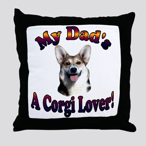 Dads a Corgi Lover Gimli Throw Pillow