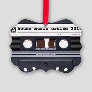 2-house tape blk Picture Ornament